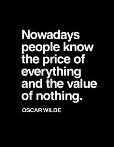 Consumerism--Oscar Wilde
